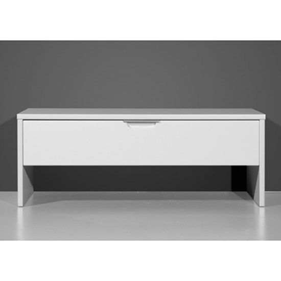 Hemnes Shoe Storage Bench In White With High Gloss Fronts