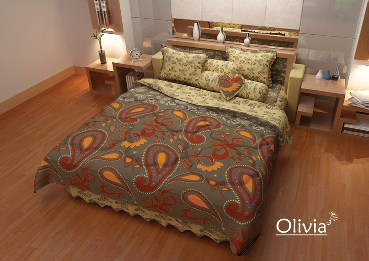Olivia Bed Cover - Classical Batik Traditional Indonesia Heritage