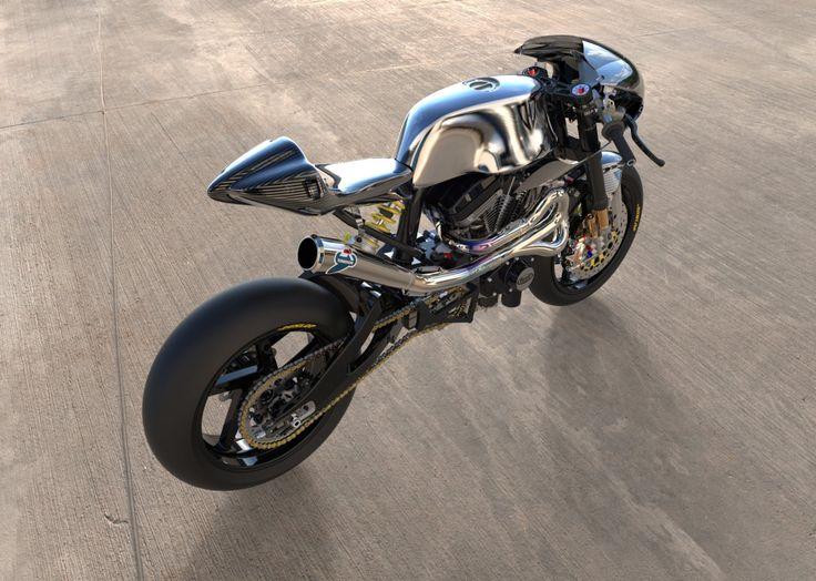 Awesome design! Buell Cafe Racer by Desmo-Design. Impresionante moto con frenos Brembo, escape Terminogni y partes en fibra de carbono ¡GAS! caferacerpasion.com