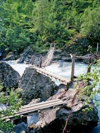 Bridge over river by Vettisfossen