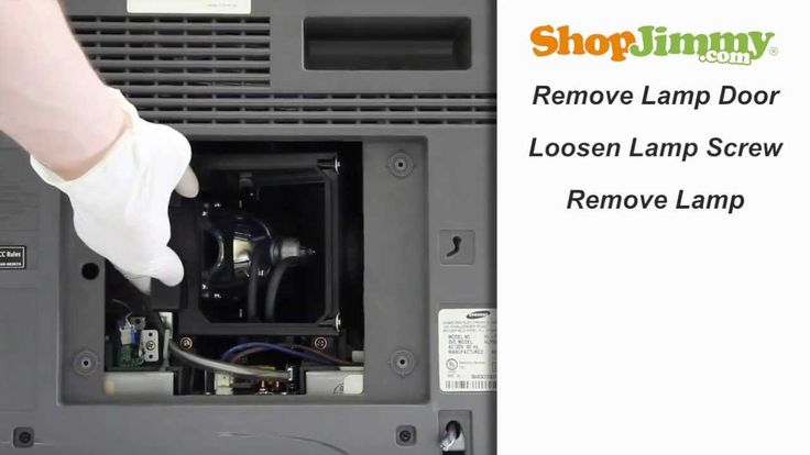 Samsung DLP TV Repair - No Picture - Replacing ...
