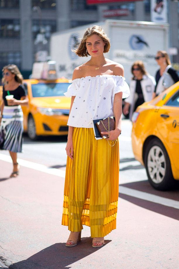 Street style at New York Fashion Week SS15 #NYFW