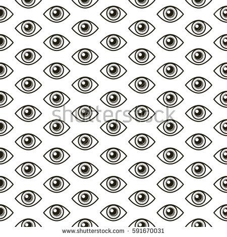 An iconic all seeing eye symbol as a repeating pattern in vector format.
