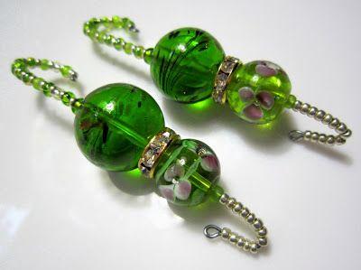 Pretty Glass Beads Ornament Hooks