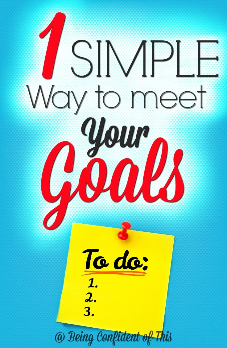 """If I get up with this long list of """"must do's"""" each day, I'll be worn out and discouraged before lunch. Focus on this simple way to meet your goals instead!"""
