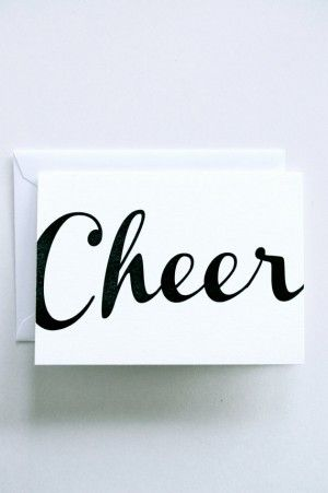 simple cheer holiday card