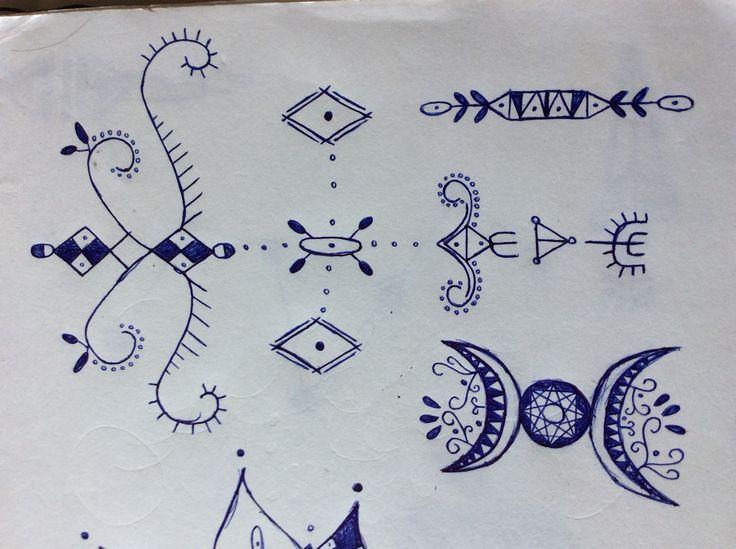 Small random drawings and designs