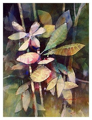 Undergrowth - watercolor study - John Lovett