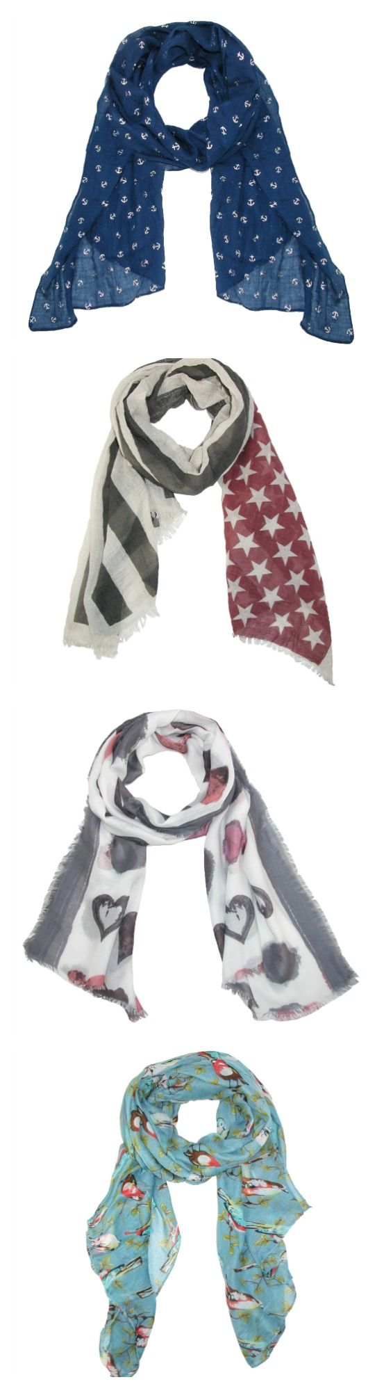 Our new spring scarves are in! Add to your spring wardrobe without breaking the bank with these adorable patterned scarves. More styles and colors available!