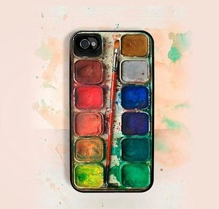 watercolor iPhone caseIphone Cases, Iphone 4S, The Artists, Painting Pallets, Watercolors, Phones Cases, Iphonecases, Painting Palettes, Iphone 4 Cases