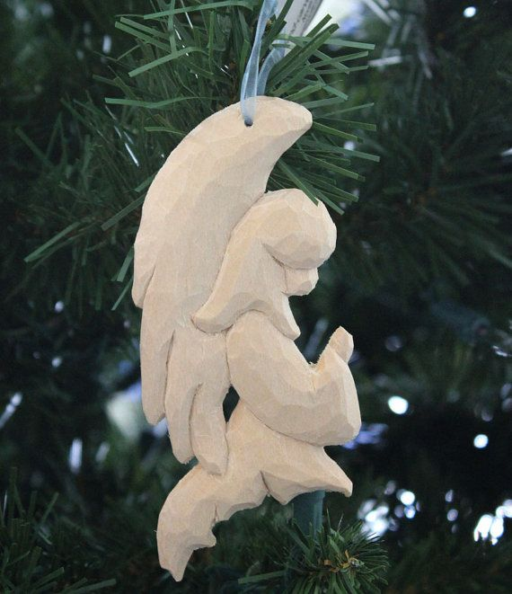 Angel Woodcarved Ornament by ePaperCuts on Etsy