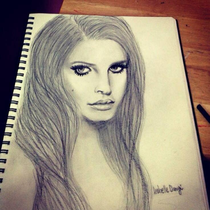 Portrait of Lana Del Rey by me:*