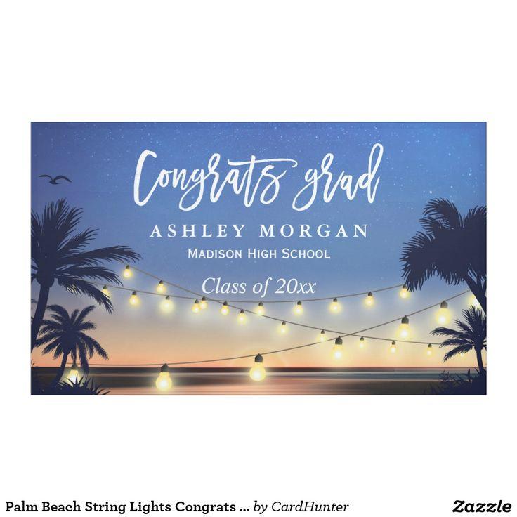 Palm Beach String Lights Congrats Graduation Party