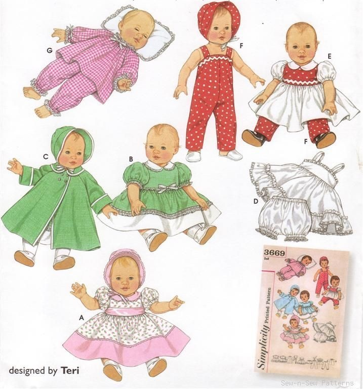 1000 Images About Vintage Baby Doll Patterns On Pinterest