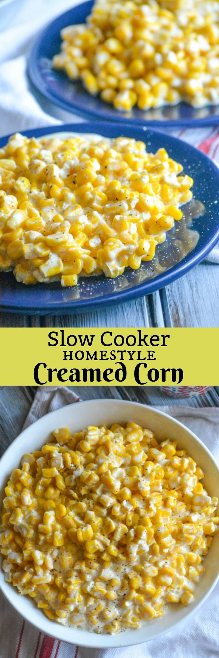 Kick the canned habit, and go with this Slow Cooker Homemade Cream Style Corn instead. Golden corn kernels in a sweet cream sauce, slow cooked to perfection- you'll never regret including this delectable 6 ingredient side dish on your dinner menu.