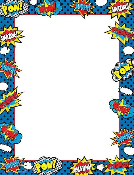 Image Result For Superhero Page Borders Frames Free