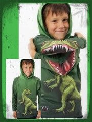 Dinosaur top with jaws!  www.mychildrensboutique.co.uk