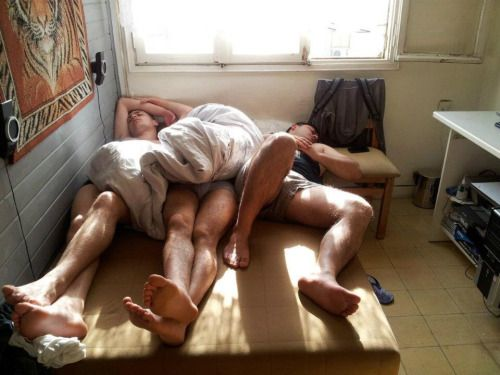image Group of guys sleeping nude gay caution