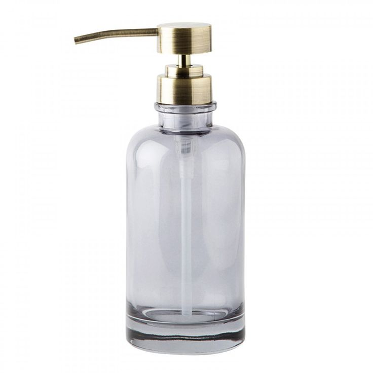 designstuff offers a range of exclusive scandinavian bathroom accessories including this stylish coloured glass soap dispenser