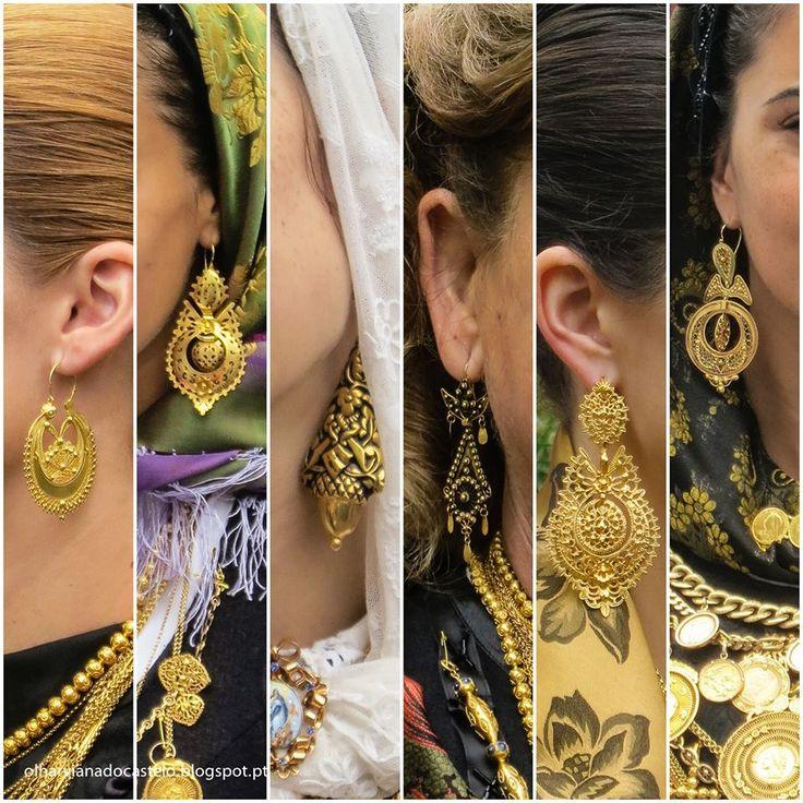 """As joias das orelhas das mulheres de Viana """"Brincos à Rainha"""" e as """"Arrecadas"""". A exibição pública de joias do designado """"Ouro de Viana"""", é mais notória associado ao uso do traje típico, nomeadamente em cortejos, festas e romarias (a da Senhora da Agonia, em Viana do Castelo, é o seu ponto mais alto) mas, nos últimos tempos, observa-se que é cada vez mais utilizado fora do contexto etnográfico. Veja-se os casos mais recentes de figuras públicas como a Princesa Mary da Dinamarca"""