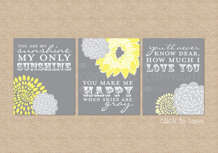My Sunshine Baby Wall Art You are My Sunshine Nursery