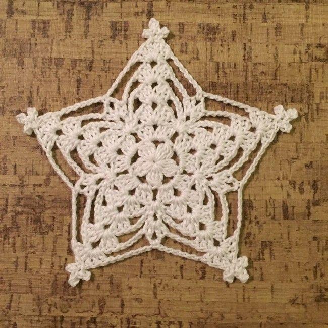 William star no3. Free crochet pattern.