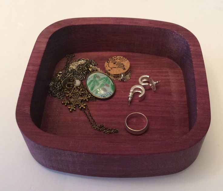 A personal favorite from my Etsy shop https://www.etsy.com/ca/listing/268461296/wooden-bowl-change-bowl-jewelry-bowl-and