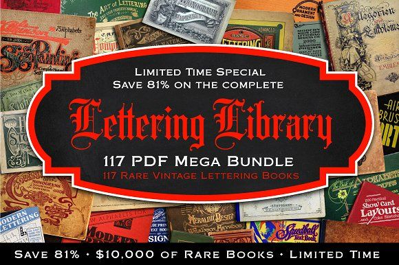 [SALE]Lettering Library Mega Bundle  by RetroSupply Co. on @creativemarket