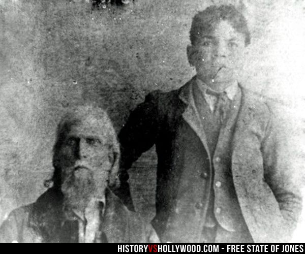 Newton Knight and his grandson. Newton Knight is portrayed by Matthew McConaughey in the Free State of Jones Civil War movie. Read 'Free State of Jones: History vs. Hollywood' - http://www.historyvshollywood.com/reelfaces/free-state-of-jones/