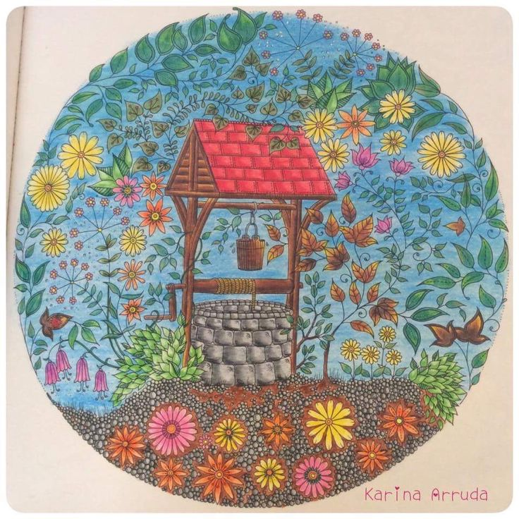 Well Secret Garden Poco Jardim Secreto Johanna Basford ColouringColoring BooksJohanna BasfordWishing