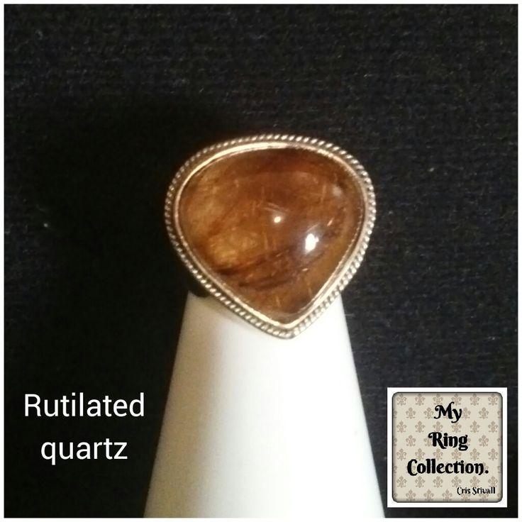 Anel de quartzo rutilado.  Rutilated crystal quartz.