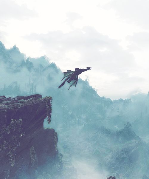 And in that split second of hesitation, the dragon launched itself off the cliff and into the world beyond.