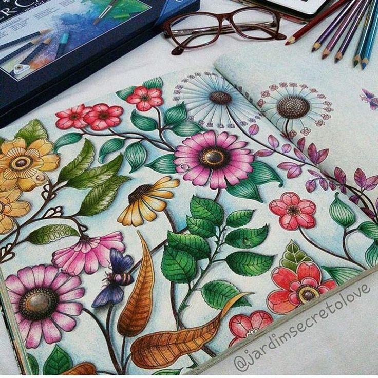Johanna Basford - Jardim Secreto - Secret Garden . Inspiration