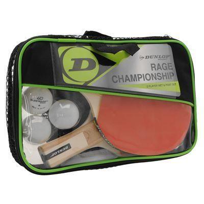 Dunlop   Dunlop Championship 2 Player Table Tennis Set   Table Tennis Bats