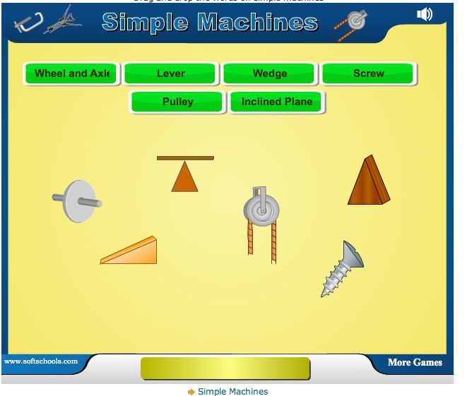 GREAT site to use with your simple machines unit! It has a simple machines game, quiz, word scramble and word search. More on this post!