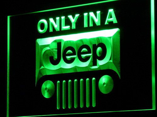 Jeep LED light Sign Only in a Jeep garage Neon sign door by AnuanA