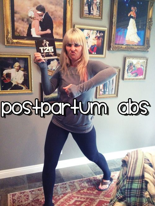 Postpartum ab workout: because even though I haven't given birth in a year and a half, my abs are still unbelievably weak