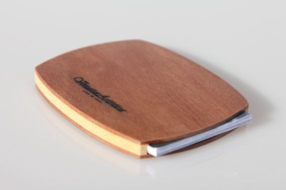 Wooden card holder  Business card holder  Wood di VenaturArtistica