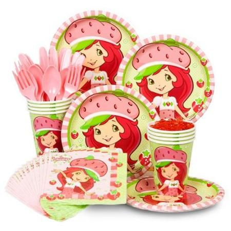 Strawberry Shortcake Standard Kit  Serves 8 Guests - Party Supplies