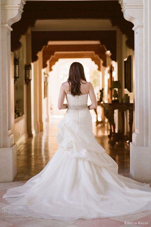 Elegant kirstie kelly wedding dresses casablanca strapless gown back train