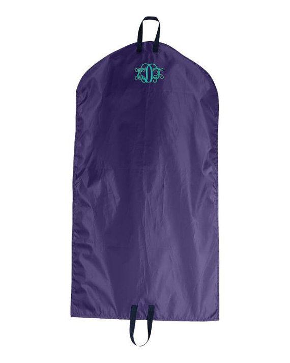 Monogrammed Garment Bag Hanging Garment Bag by cre8ivgifts on Etsy$22