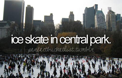 Ice skate in Central Park.