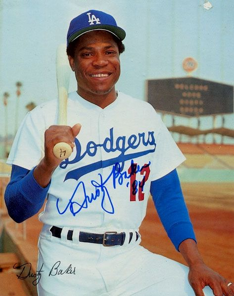 Dusty Baker!!!! Excuse his Dodger outfit but he is still my favorite!