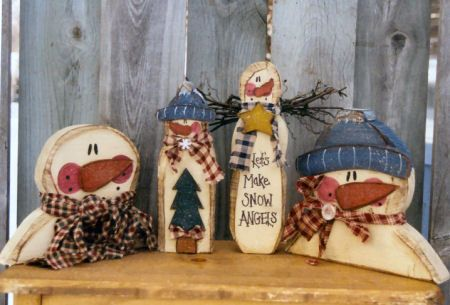 2: Christmas Crafts, Winter Crafts, Snowmen, Primitive Crafts, Snowfolk Crafts, Wood Crafts, Painting Crafts, Country Crafts