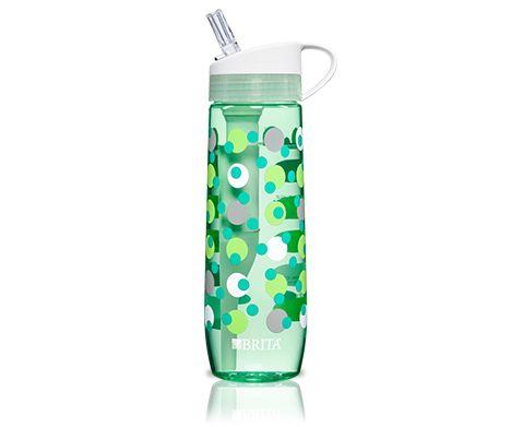 Brita Water Filter Water Bottle--top rack dishwasher safe--BPA-free--23.7 oz