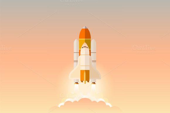 Spacecraft Launch by Kruglikov Art Centre on Creative Market