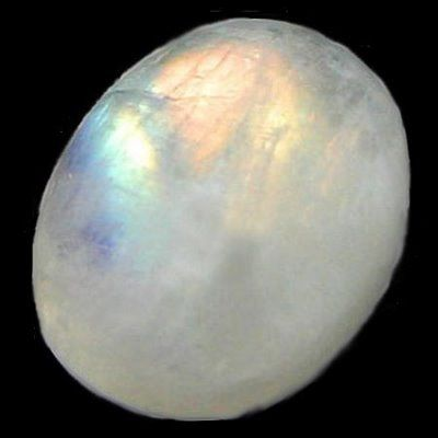 "Moonstone is a stone for ""new beginnings"", inner growth and strength. It soothes emotional instability and stress, and stabilizes the emotions, providing calmness. Enhances intuition, promotes inspiration, success and good fortune in love and business matters."