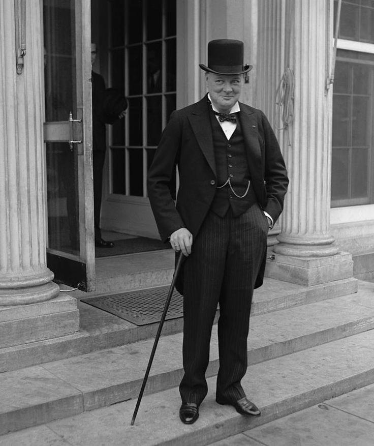 This guy used a cane. Winston the British Bulldog ...