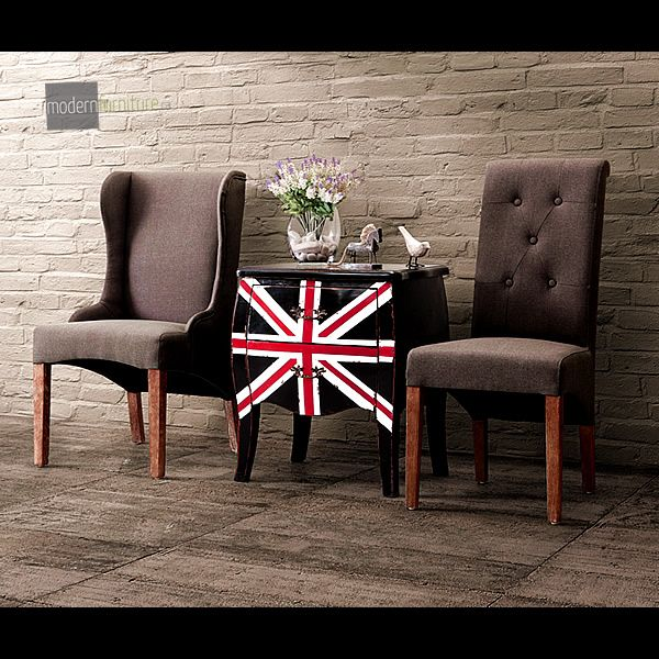 Add some British flair to any your with the Union Jack Small Cabinet. Functional and fashionable this cabinet has it all.