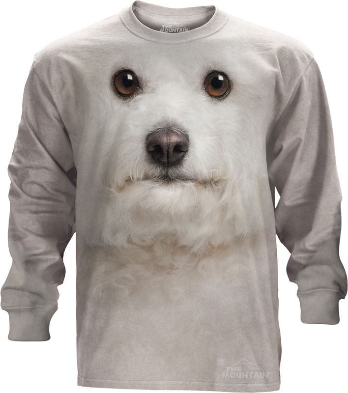 Big Face Bichon Frise Long Sleeve Tee - 30% DISCOUNT ON ALL ITEMS - USE CODE: CYBER  #Cybermonday #cyber #discount